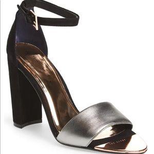 Ted Baker London Caiye black rose gold heels